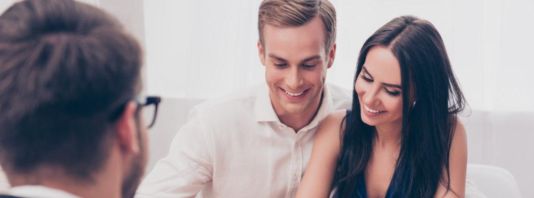 couple with financial advisor