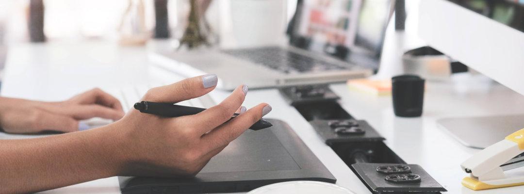 woman writing something