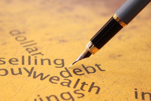 debt, wealth